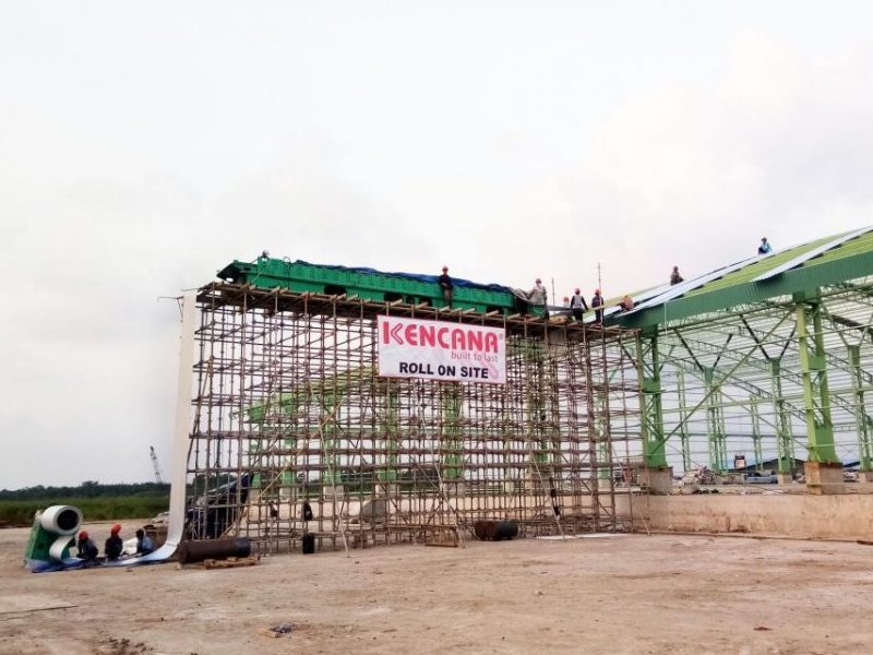 Roll On Site Pembangunan Pabrik Gula Pratama Nusantara Sakti